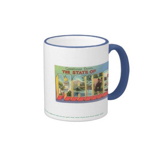 ¡MAINE el hogar de bueno travieso todo!!! Taza De Café