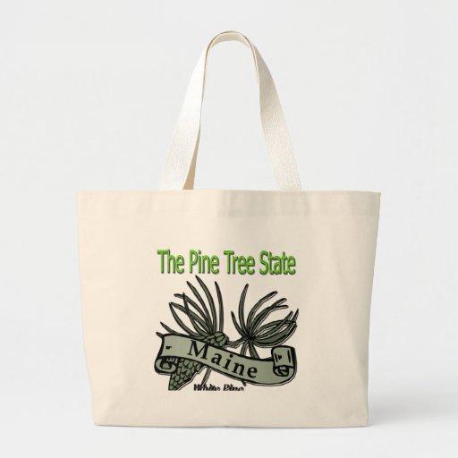 Maine el pino blanco del estado del árbol de pino bolsa tela grande