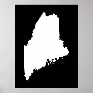 Maine en blanco y negro póster