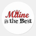 Maine es los mejores pegatinas etiquetas redondas