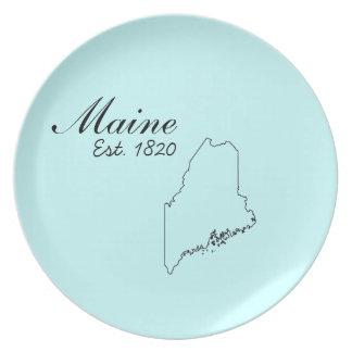 """""""Maine, Est. 1820"""" placas de la cocina Platos"""