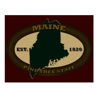 Maine Est 1820 Postcard