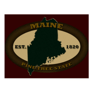 Maine Est. 1820 Tarjeta Postal