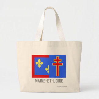Maine-et-Loire flag with name Tote Bags