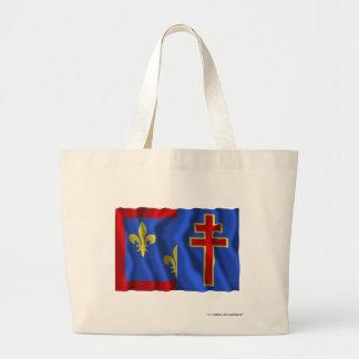 Maine-et-Loire waving flag Canvas Bags
