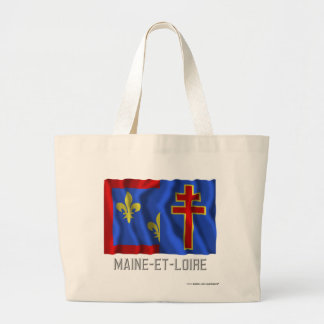 Maine-et-Loire waving flag with name Bag