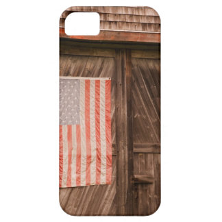 Maine, Faded American flag on door of old barn iPhone 5 Cases