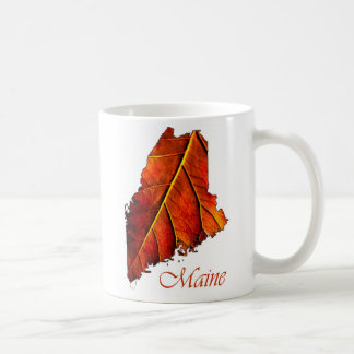 Maine Fall Foliage Photo Gift Mug Autumn Leaf