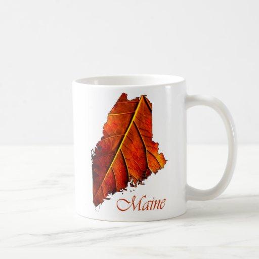 Maine Fall Foliage Photo Gift Mug Autumn Leaf