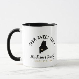 Maine Farm Sweet Farm Family Monogram Mug