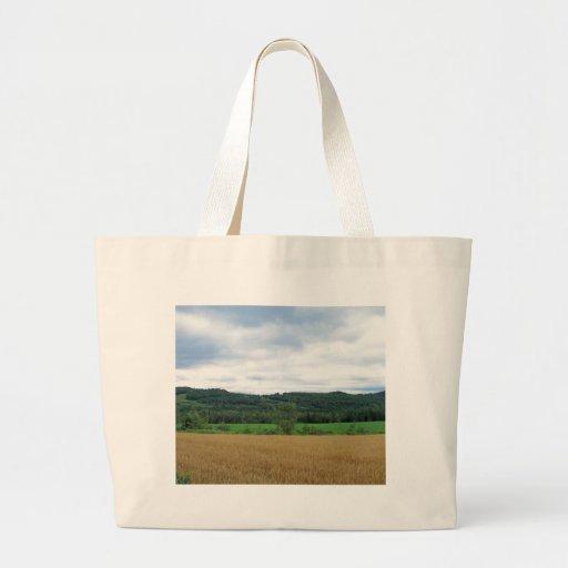 Maine Farmland Canvas Bag