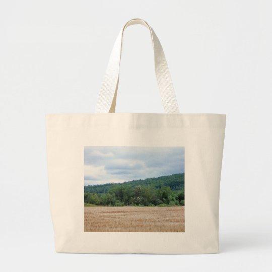 Maine Farmland Large Tote Bag