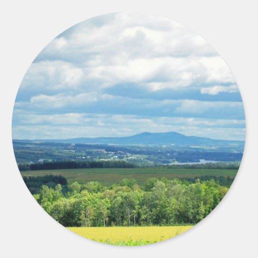Maine Farmland Round Sticker