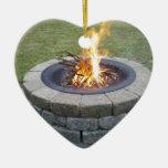 ¡Maine FirePits! Adorno Navideño De Cerámica En Forma De Corazón