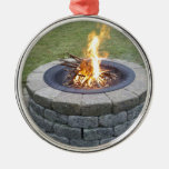 ¡Maine FirePits! Adorno Navideño Redondo De Metal