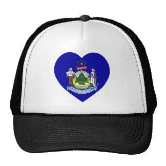 Maine Flag Heart Trucker Hat