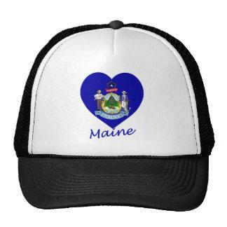 Maine Flag Heart Hats