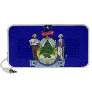 Maine Flag iPod Speakers