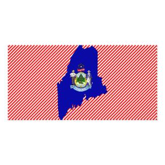Maine Flag Map Photo Card Template