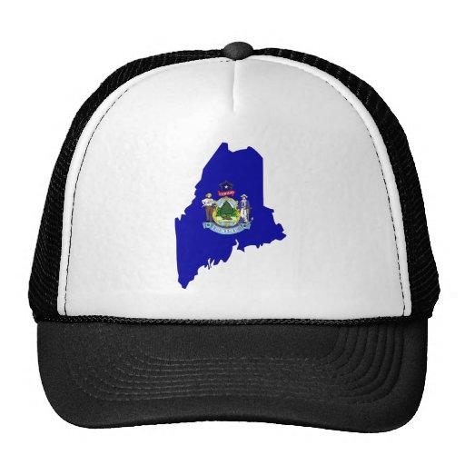 Maine Flag Map Trucker Hat