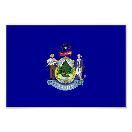 Maine Flag Posters