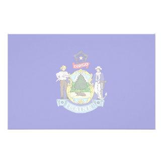Maine Flag Stationery