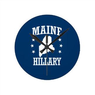 MAINE FOR HILLARY ROUND CLOCK