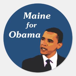 Maine for Obama Sticker