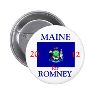 Maine for Romney 2012 Button