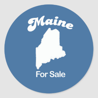 Maine - For Sale T-shirt Classic Round Sticker