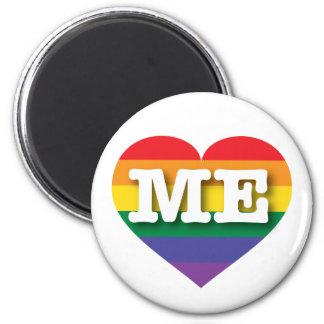 Maine Gay Pride Rainbow Heart - Big Love Magnet