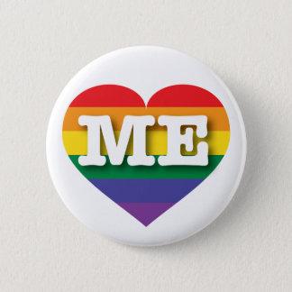 Maine Gay Pride Rainbow Heart - Big Love Pinback Button