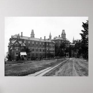 Maine General Hospital in Portland, Circa 1900 Print