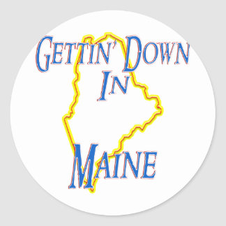 Maine - Getting abajo Pegatina Redonda