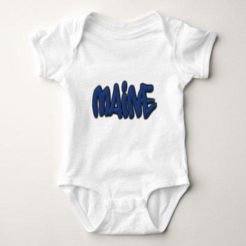 Maine Graffiti Baby Bodysuit