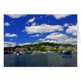 Maine Harbor in Summer Greeting Card