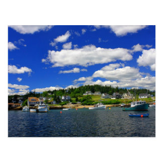 Maine Harbor in Summer Postcard