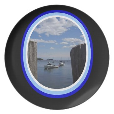 USA Themed Maine Harbor Plate