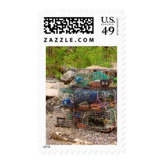 Maine Harbor Postage Stamps