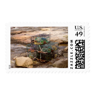 Maine Harbor Postage Stamp