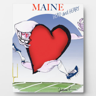 maine head heart, tony fernandes plaque