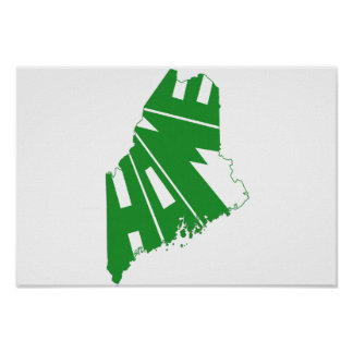 maine home state poster