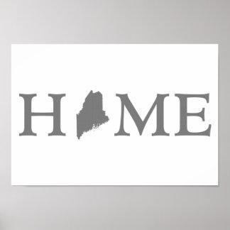 Maine Home State Print