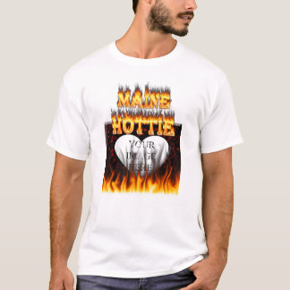 Maine Hottie fire and red marble heart. T-Shirt