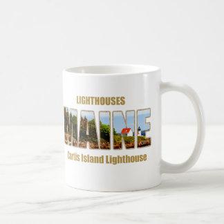 MAINE Image Text Series - Curtis Island Lighthouse Coffee Mug