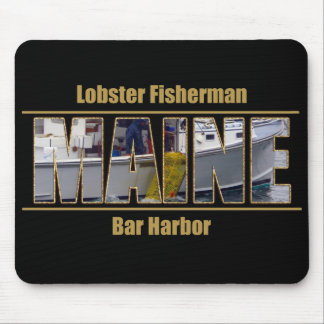 MAINE Image Text Series - Lobster Fisherman Mouse Pad
