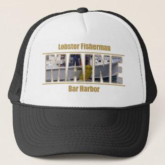 MAINE Image Text Series - Lobster Fisherman Trucker Hat