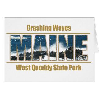 Maine Image Text - Waves Crashing Card