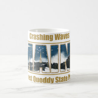Maine Image Text - Waves Crashing Coffee Mug