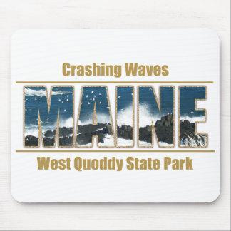 Maine Image Text - Waves Crashing Mousepad